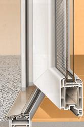 Porta d'entrada de PVC Kömmerling Eurofutur Elegance 70mm: CONFORTTA - Portes d'entrada de PVC · aïllament tèrmic i acústic.