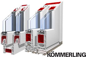 Sistemes de perfils de corredisses de pvc KÖMMERLING Premiline Premidoor.